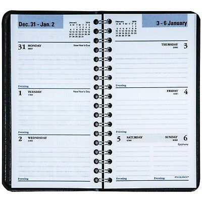 2019 At-A-Glance DayMinder G232 G232-00 Weekly Pocket Planner, 3-1/4 x 6-1/4""