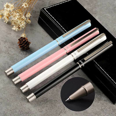 Hero 1507 Thin Metal China Push Cap Extra Fine Fountain Pen 0.38mm Nib Writing