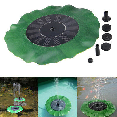 FLOATING BIRD BATH Solar Power Fountain Garden Water Panel