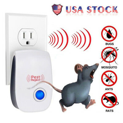 5x Electronic Ultrasonic Pest Reject Mosquito Cockroach Mouse Killer Repeller