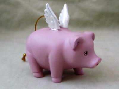 Adorable FLYING PINK PIG WINGS Whimsical Fairy Garden Resin FREE SHIPPING