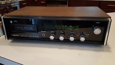 Vintage Midland International AM/FM 8 Track Stereo Receiver 19-526B Solid State