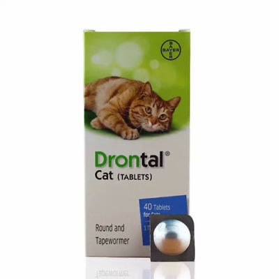 NEW Drontal for Cats Kitten, 4,8,12,16 Tablets Tapeworm Dewormer Roundworm Bayer