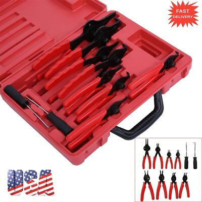11 Piece Snap Ring Pliers Circlip Retaining Clip Tool Set Internal External Kz#