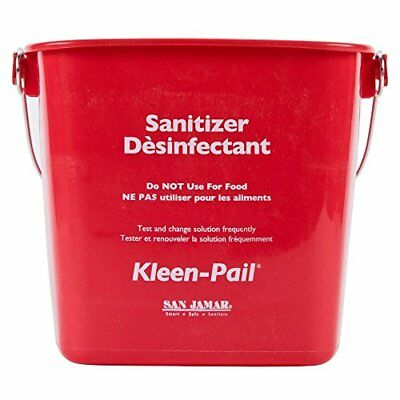 San Jamar KP256RD Kleen-Pail Commercial Cleaning Bucket 8 Quart Red