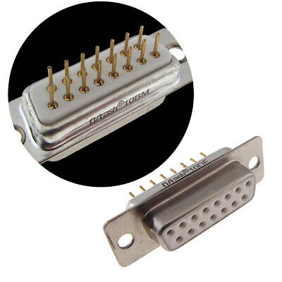 DB15 D-Sub Receptacle Female Sockets Connector Panel Mount Solder