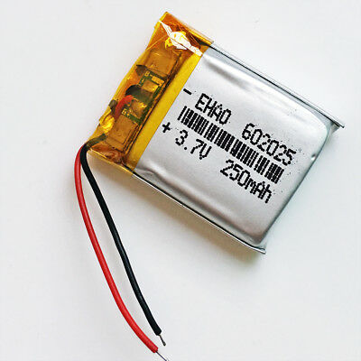 3.7V 250mAh Lipo Polymer Rechargeable Battery For MP3 DVD bluetooth GPS 602025