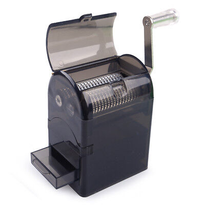 1x Durable Hand Crank Tobacco Spice Herb Zinc Alloy Grinder Mill Crusher - Black