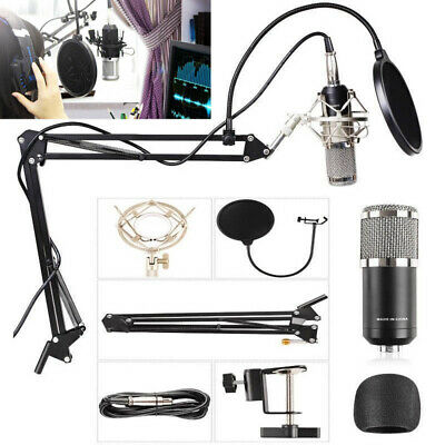 BM800 Audio Vocal Studio Condenser Microphone Kit Scissor Arm Stand Shock Mount