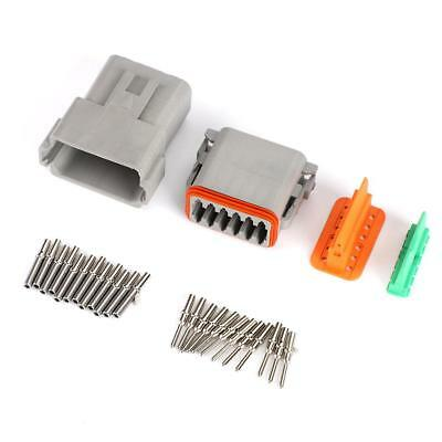 DT06-12S 12Pin Waterproof Car Electrical Wire Connector Plug Kit 14GA/16-22AWG