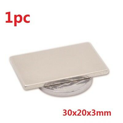 30x20x3mm Neodymium Permanent super strong Magnets rare earth Axially N35 1pc