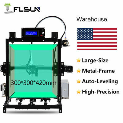 Flsun Dual Extruder I3 3D Printer 300*300*420mm Large Size Touch Screen Control
