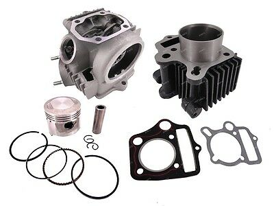 50CC Rebuild 70CC Complete Cylinder Head Piston Gasket For Honda XR50 CRF50 70