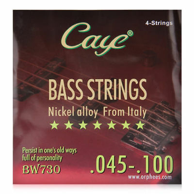 4PCs CAYE Electric Bass Strings (.045-.100) nickel Plated alloy