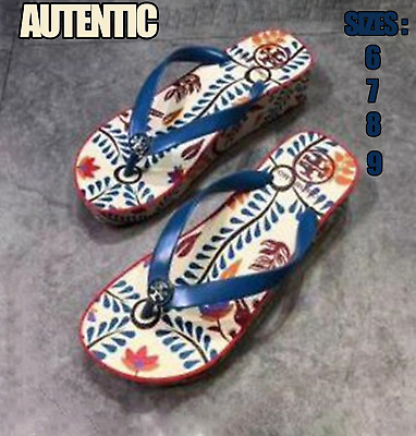 d257888cc AUTHENTIC TORY BURCH Printed Shower Flip Flops Sandals Sizes 6 7 8 9 2018  New -  59.97