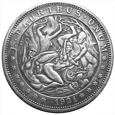 Witches Orgeee Morgan Dollar Heads & Tails Good Luck Token Challenge Coin