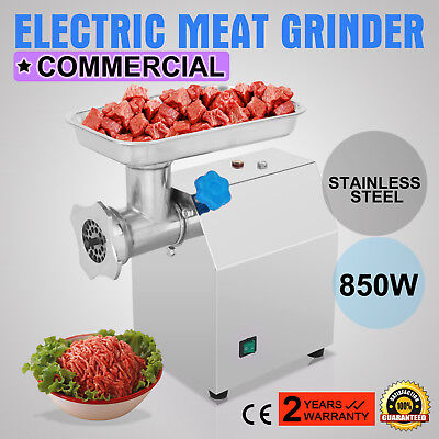 Stainless Steel Commercial Meat Grinder #12 850W 190R/Min Electric Industrial