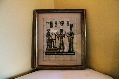 Antique Egyptian genuine Papyrus paintings with certificate x 2