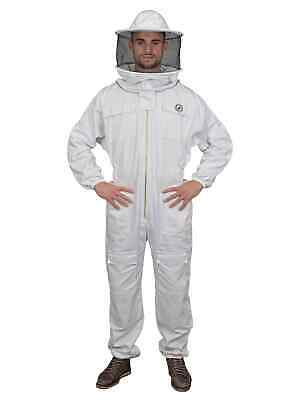 Humble Bee 410 Polycotton Beekeeping Suit with Round Veil (Large)