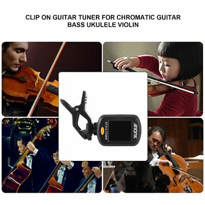 Aroma AT-01A Clip On Guitar Tuner for Chromatic Guitar Bass Ukulele Violin ZZ