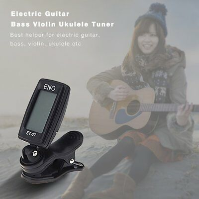 Small Clip-On Design LCD Display Digital Tuner For Acoustic Electric Guitar JC