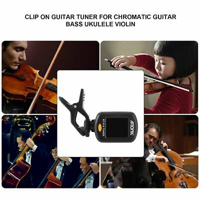 Aroma AT-01A Clip On Guitar Tuner for Chromatic Guitar Bass Ukulele Violin ZX