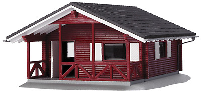 HO Scale Buildings - Summer Cottage - red