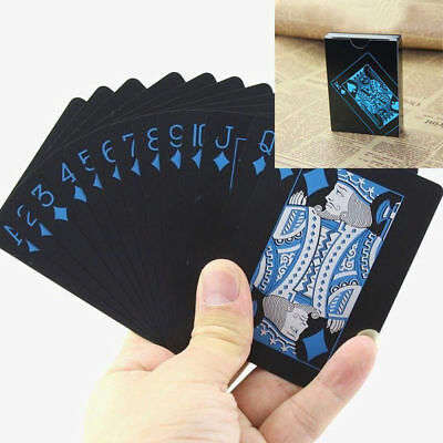 Waterproof Black Playing Cards Plastic Poker Valuable Creative Bridge Card SS