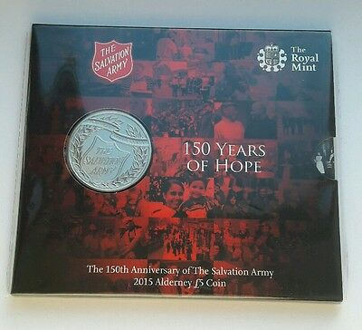 2015 Royal Mint Alderney £5 Pound Coin 150th Anniversary of the Salvation Army #