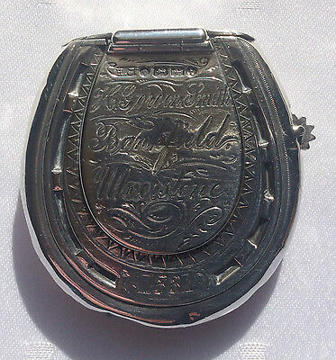 A Victorian Silver Vesta Case Of Large Horseshoe Form Dated 1880 By Howard James