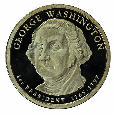 2007 -S George Washington Presidential Proof Dollar Gem Deep Cameo US Coin