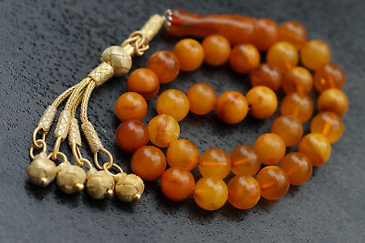 Natural Baltic Amber Islamic Prayer Beads Bernstein Gebetskette Kehribar Islam*