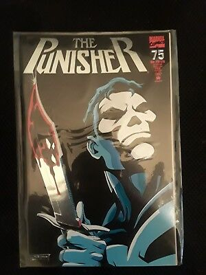 THE PUNISHER #75  Silver Knife Foil Cover! NM