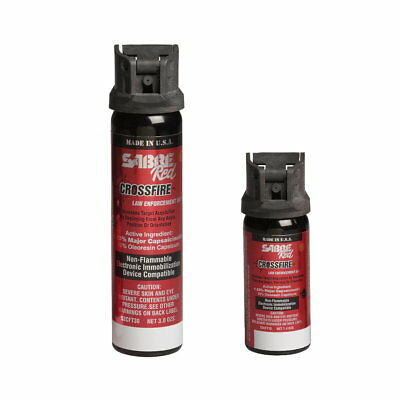 Sabre Red Crossfire Pepper Spray Canister Flip-Top, Stream