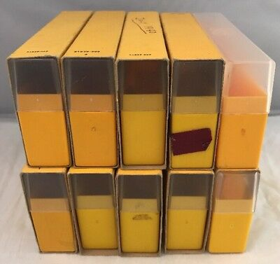 Job Lot 10 x Vintage Kodak 35mm Photo Slide Storage Boxes (Thinner Boxes)