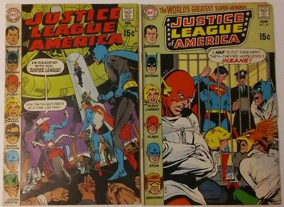 JUSTICE LEAGUE #78 81 First Silver Vigilante 1970 Reader Copies DC Comics Batman