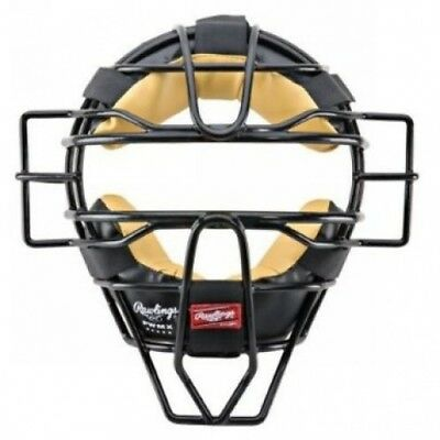 (Black) - Rawlings High Visibility PWMX Wire Baseball/Softball Umpire Mask