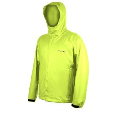 (Small, Hi Vis Yellow) - Grundens Neptune 319 Hooded Jacket. Shipping Included