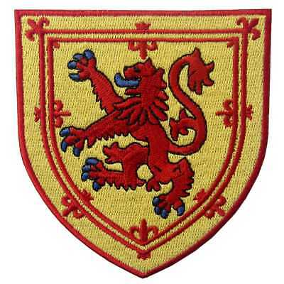 Embroidered Iron Sew On Patches transfers Badges appliques Scotland Coat of Arms