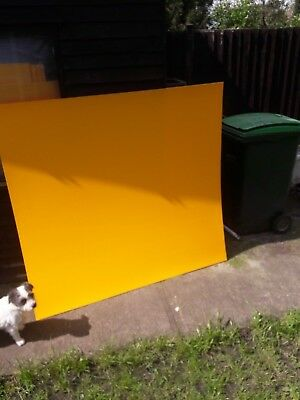 Coloured Acrylic Sheet Plastic Material yellow
