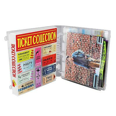 Ticket Stub Collector Album and Memory Keeper Kit, Pages Included - Clear