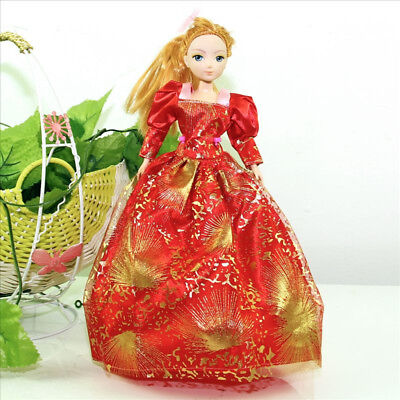 Handmade Party Dress Fashion RedG Clothes For Barbie Doll Outfit Gown Wedding