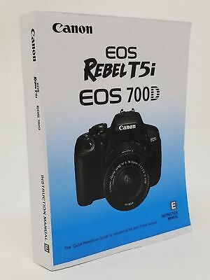 Canon Rebel T5i EOS 700D Genuine Instruction Owners Manual Book Original NEW