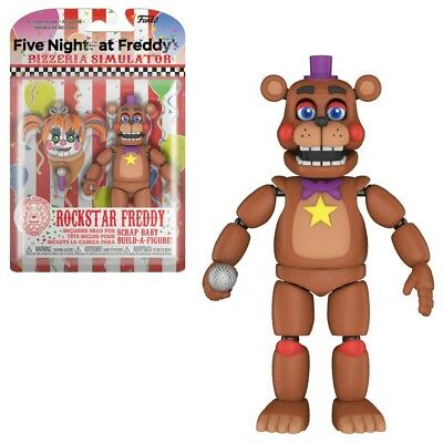 FNAF Five Nights At Freddy's ROCKSTAR FREDDY Articulated Action Figure New