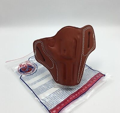 FITS RUGER SP101 | Cebeci Leather Pancake OWB Belt Holster Combat Grip RH  Brown