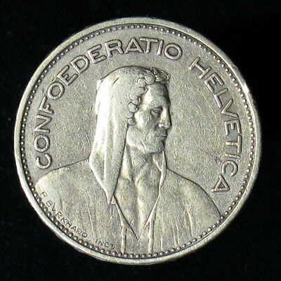 1932-B Switzerland 5 Francs silver coin