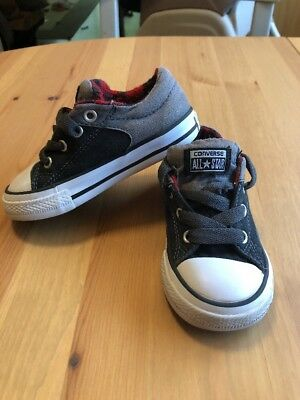 e8e916495e00 Toddler Boys Converse Size 7 GUC Low Tops High Street Slip Black Red White