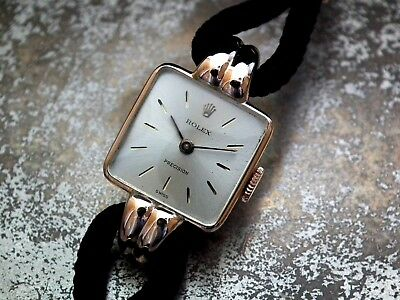 Just Beautiful 1947 Solid 9ct Rose Gold Ladies Rolex Precision Vintage Watch