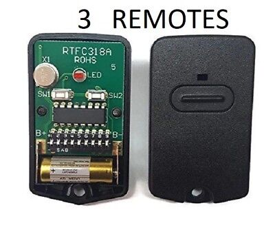 Gto Rb741 Gate Opener, Mighty Mule Fm135 Entry Transmitter Remote Control 3Pk