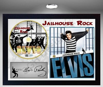 Elvis Presley Jailhouse Rock PRESLEY SIGNED FRAMED PHOTO CD Disc Perfect gift #2